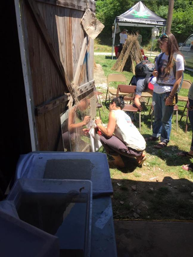 sheet drying hemp in holler.jpg